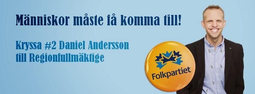 Kryssa #2 Daniel Andersson (FP) till regionfullmäktige
