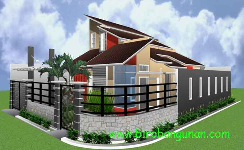 Desain Rumah Minimalis Modern Hook Sumber :://birobangunan.blogspot.com & Membangun Rumah Minimalis untuk Lahan Kaveling Sudut