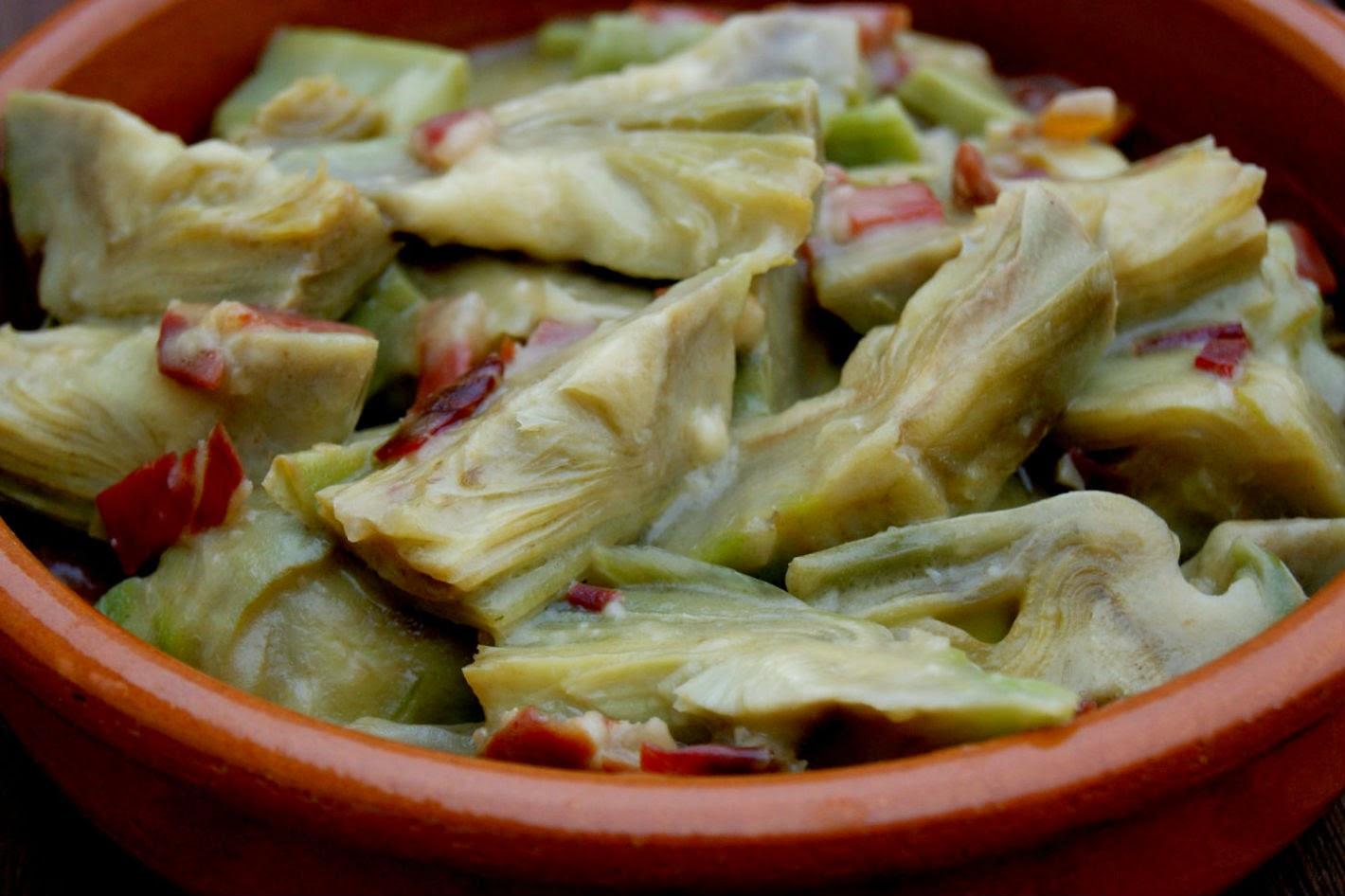 alcachofas con jamon cocinar en casa es