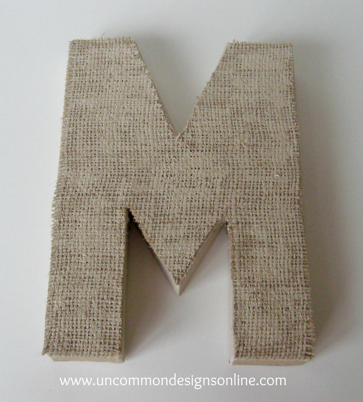 Burlap Covered Letters - Step by Step Instructions