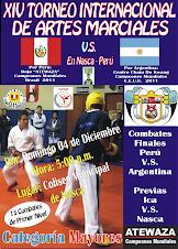 XIV Torneo Internacional de Artes Marciales Perú V.S. Argentina