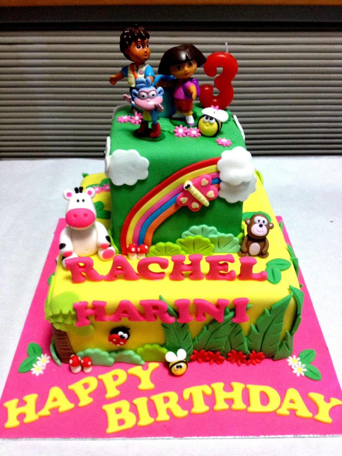 Oven Creations Happy 3rd Birthday Rachel Harini