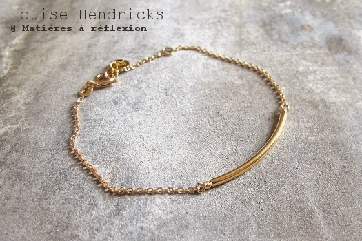 Bracelet Louise Hendricks Tube plaqué or
