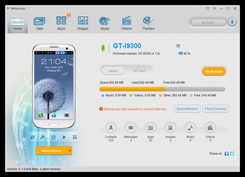 pc suite android
