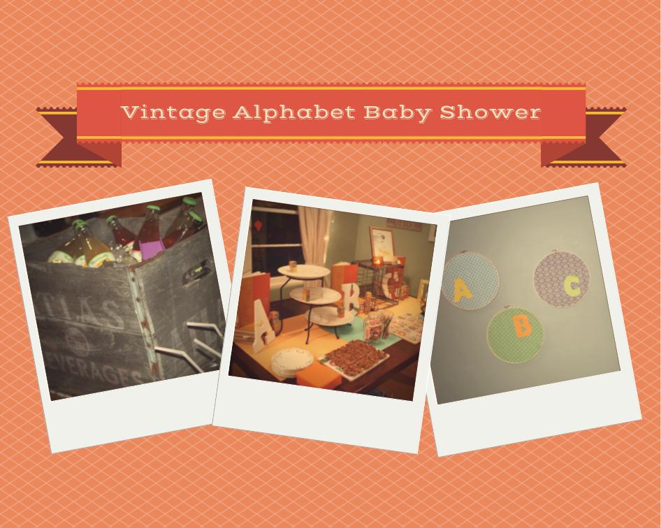 Baby Showers Kent ~ Kent heartstrings vintage alphabet baby shower