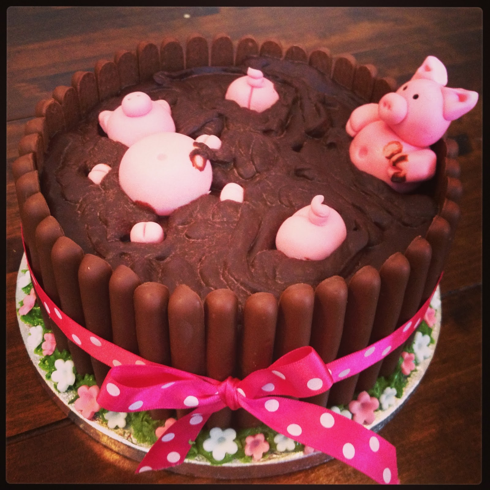 Baby Pigs In Mud Pigs chocolate cake
