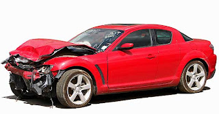 Damaged Mazda RX-8