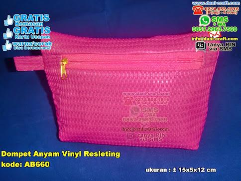 Dompet Anyam Vinyl Resleting