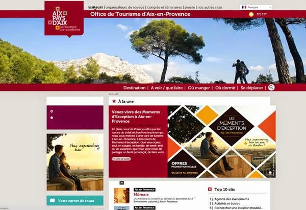 Retrouvez les événements touristiques d'Aix en Provence sur notre site internet