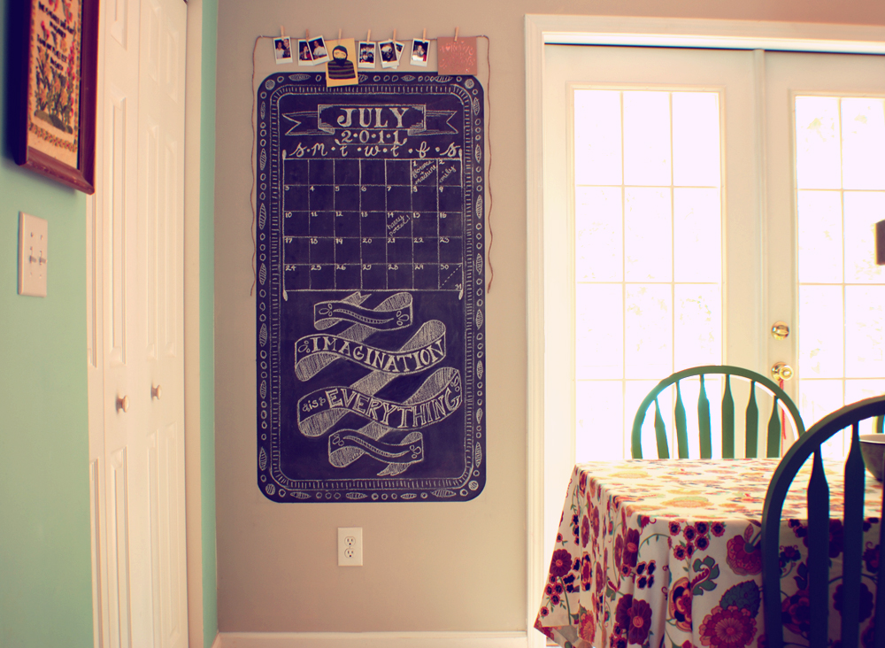 Pocketful of pretty kitchen chalkboard wall for Kitchen chalkboard