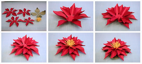 Bits of paper 3d paper poinsettia and poinsettia wreath poinsettia flower tutorialg mightylinksfo