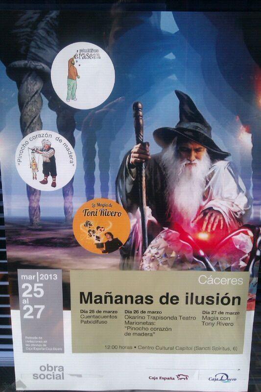 magia, ilusión, toni rivero, mañanas de ilusión, caja duero, caja españa, obra social