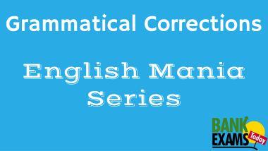 Grammatical Corrections