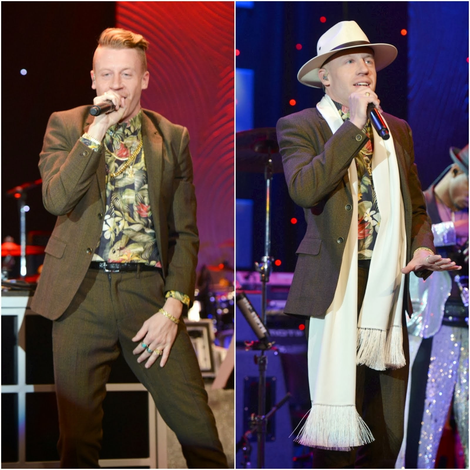 Macklemore in AMI Alexandre Mattiussi - Pre-GRAMMY Gala And Salute To Industry Icons Honoring Lucian Grainge