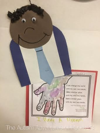 Martin Luther King Day Craft The Autism Adventures Of Room 83