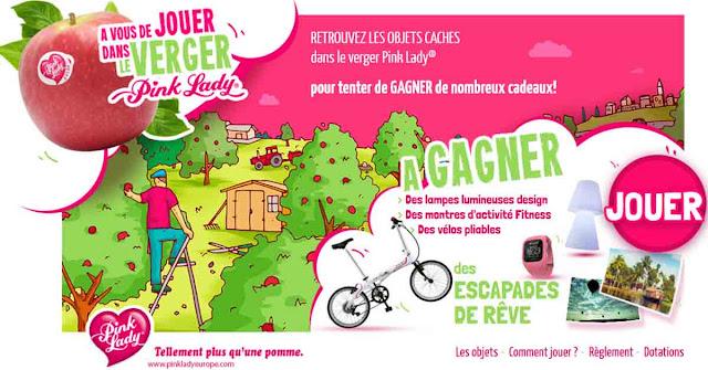 Instant Gagnant Pink Lady 8 vélos pliables, 16 lampes Lola et 16 montres à gagner !
