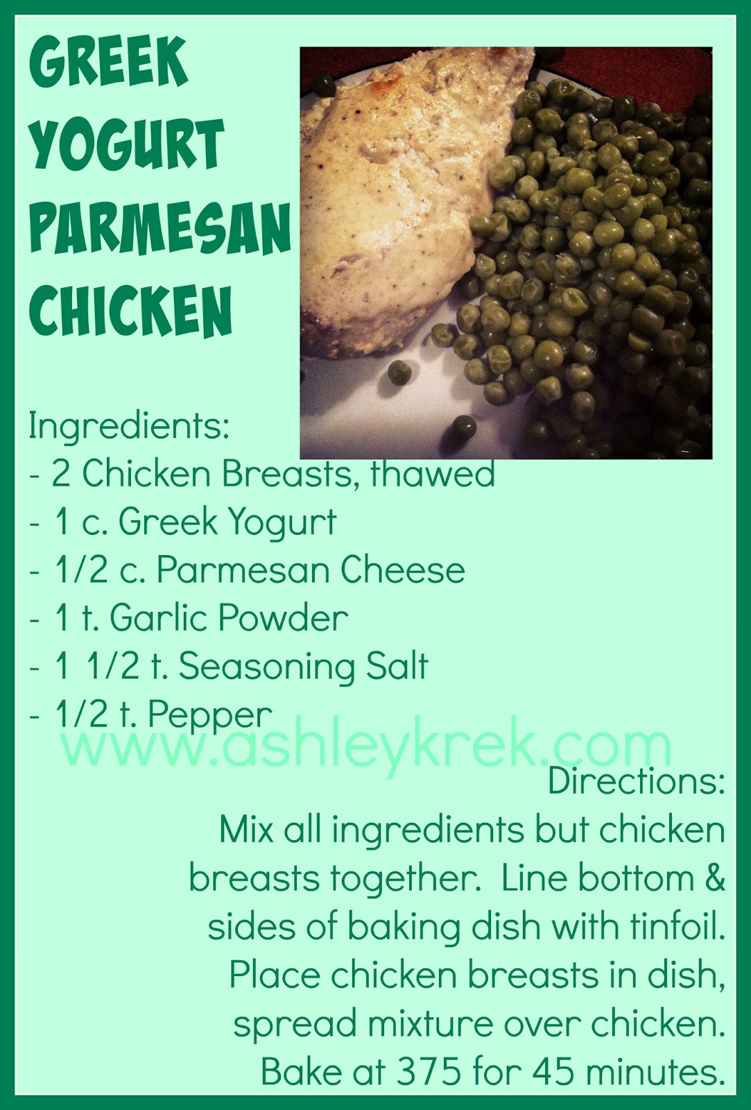 Healthy Parmesan Chicken
