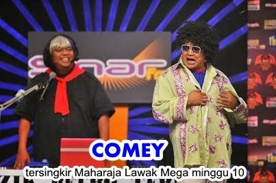 Comey tersingkir Maharaja Lawak Mega 2013 minggu 10