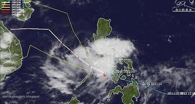 BANYAN vorübergehend kein Sturm mehr - Vietnam bleibt das Ziel, Banyan, aktuell, Verlauf, Zugbahn, Taifunsaison, 2011, Philippinen, Vietnam, Laos, Pazifik, Oktober,