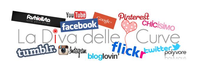 la diva delle curve sui social network