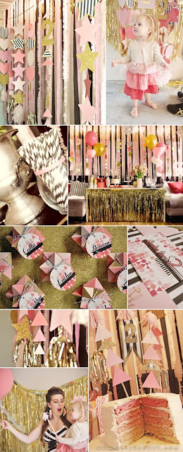 elements of design unity pink sparkly party