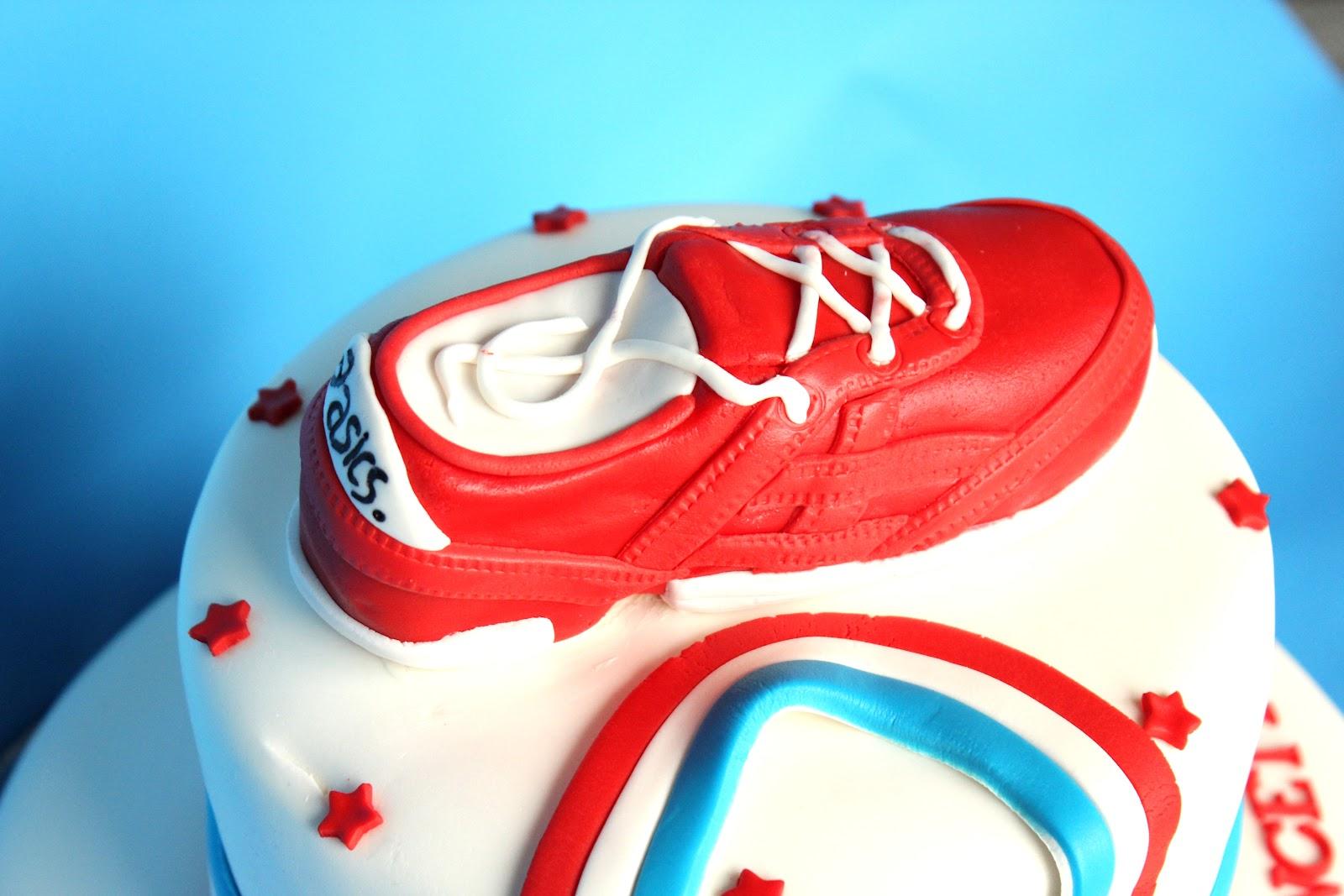 Heavenly Bites Cakes Red White Blue Runner 30th Birthday Cake