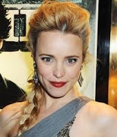 Rachel McAdams festive side braid
