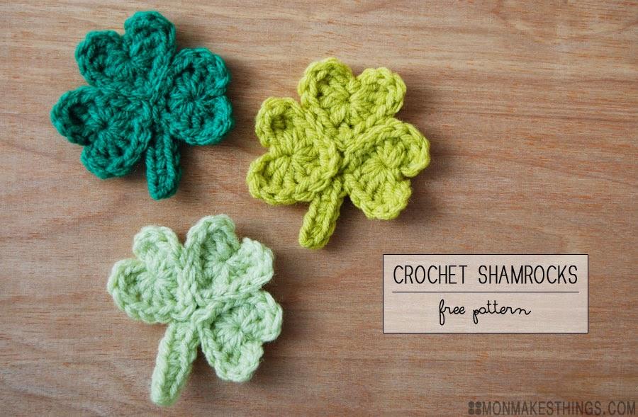 Mon Makes Things Crochet Shamrocks