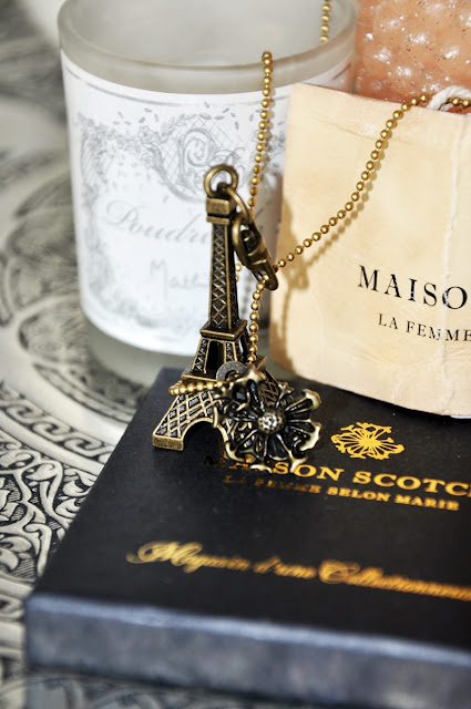 Eiffel tower necklace by Maison Scotch