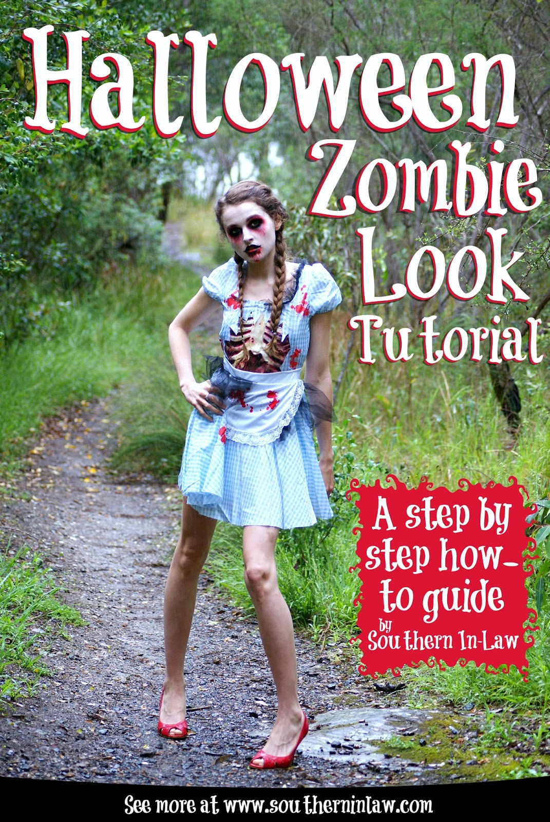 southern in law: stepstep halloween zombie look tutorial