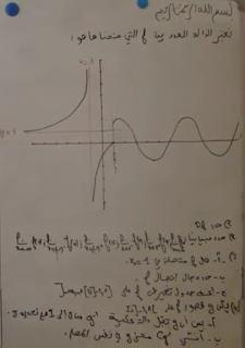 تمرين 27 حول النهايات والاتصال دراسة دالة انطلاقا من المنحنى