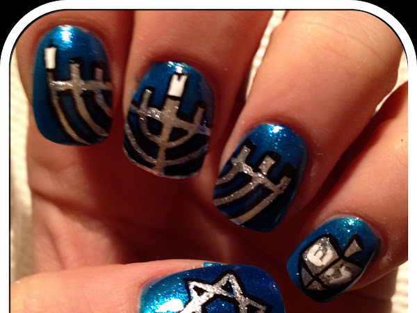 Day 20 - Hanukkah Nails