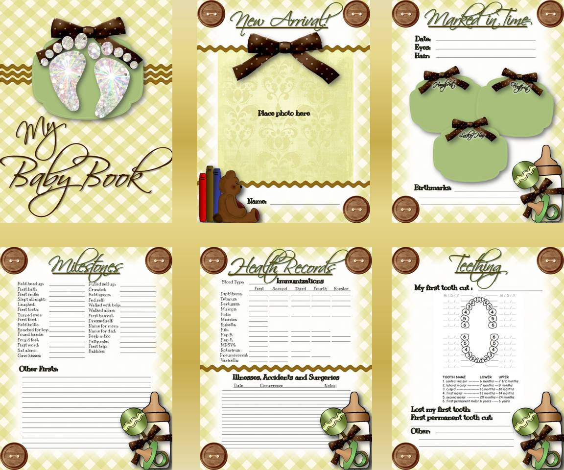 digital scrapbooking made easy free baby book insert