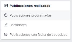 publicaciones caducidad facebook