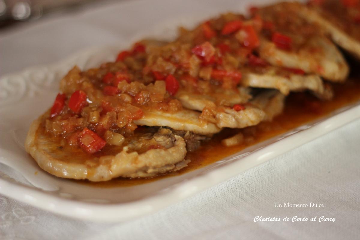 Un momento dulce chuletas de cerdo al curry for Cocinar xoubas