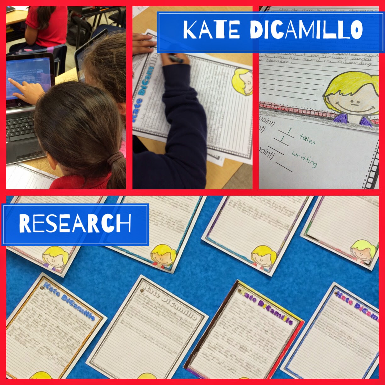 Author Research Project - Kate DiCamillo - Your Thrifty Co-Teacher