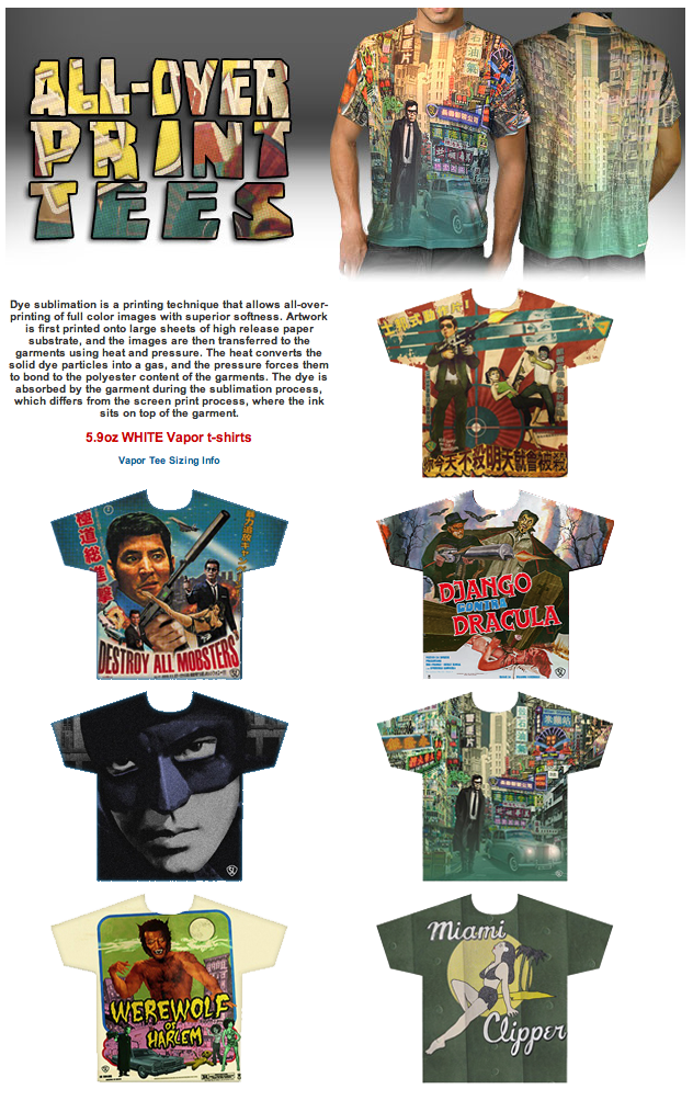 Shelf life clothing co new dye sublimation all over for All over dye sublimation t shirt printing