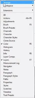 photoshop cs6 : arrange view option