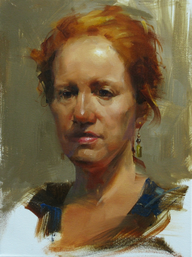 qiang huang a daily painter aau portrait painting 3