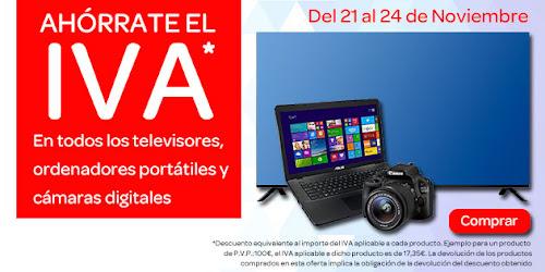 Promoción Ahórrate el IVA noviembre 2014 Carrefour Online
