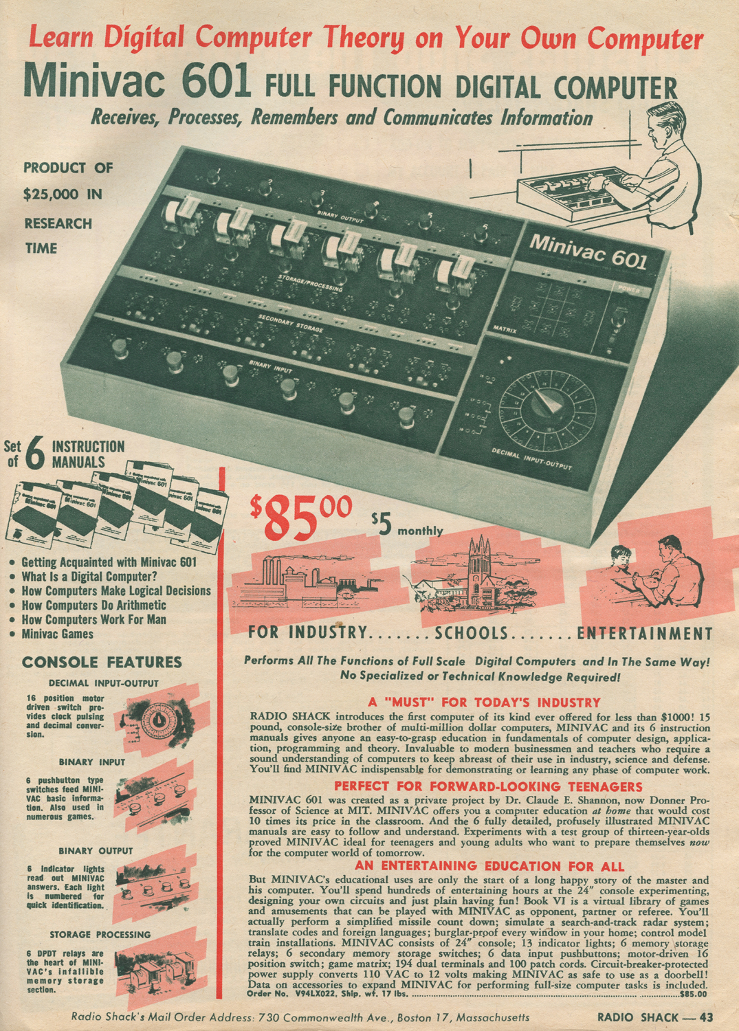 Neato Coolville Highlights From A 1961 Radio Shack Christmas Catalog 3 Way Switch