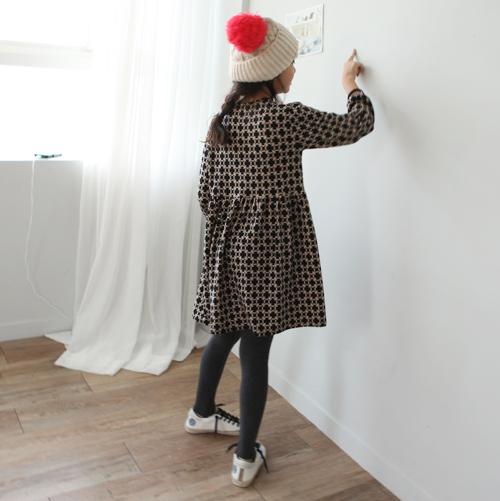 Geometric Print High Waist Dress by Hodoostory