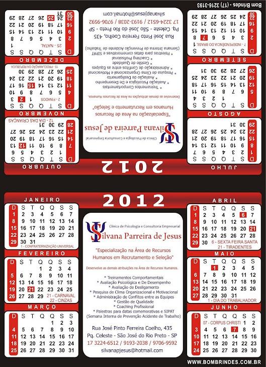 Calendário 2012....