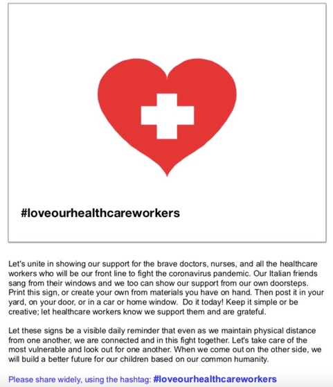 #loveourhealthcareworkers