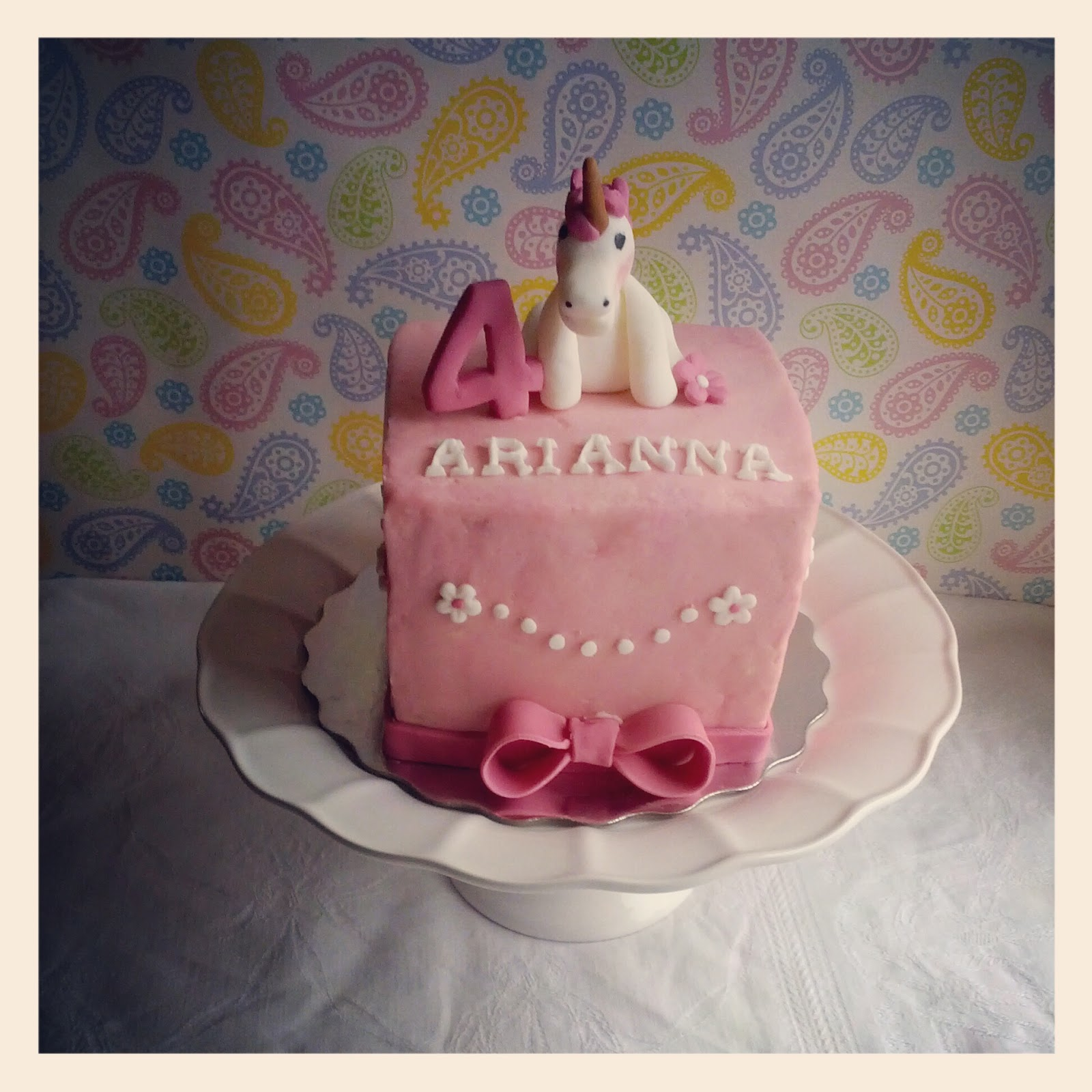 Second Generation Cake Design Pink Unicorn Birthday