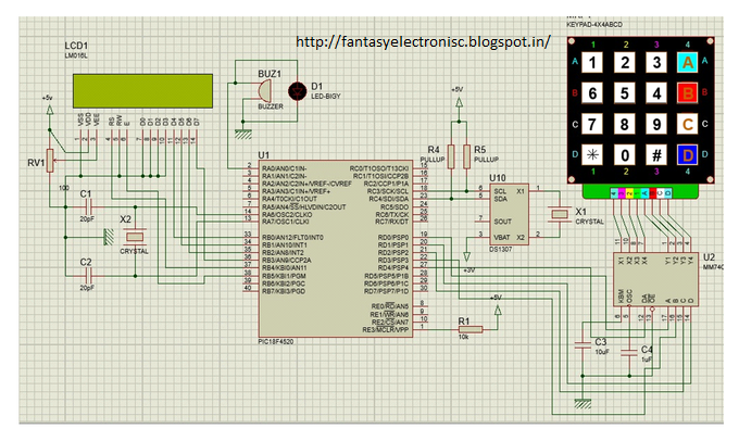 Automatic School Bell Alarm Using PIC18f4520 Microcontroller