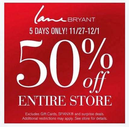 The 2-page Lane Bryant Black Friday Ad is here! They will offering 40% OFF the entire store and offering daily deals to lead up and after Black Friday. Check your local store for their Black Friday hours. Lane Bryant is a clothing store that produces plus sized clothing with fashion and fit in mind.
