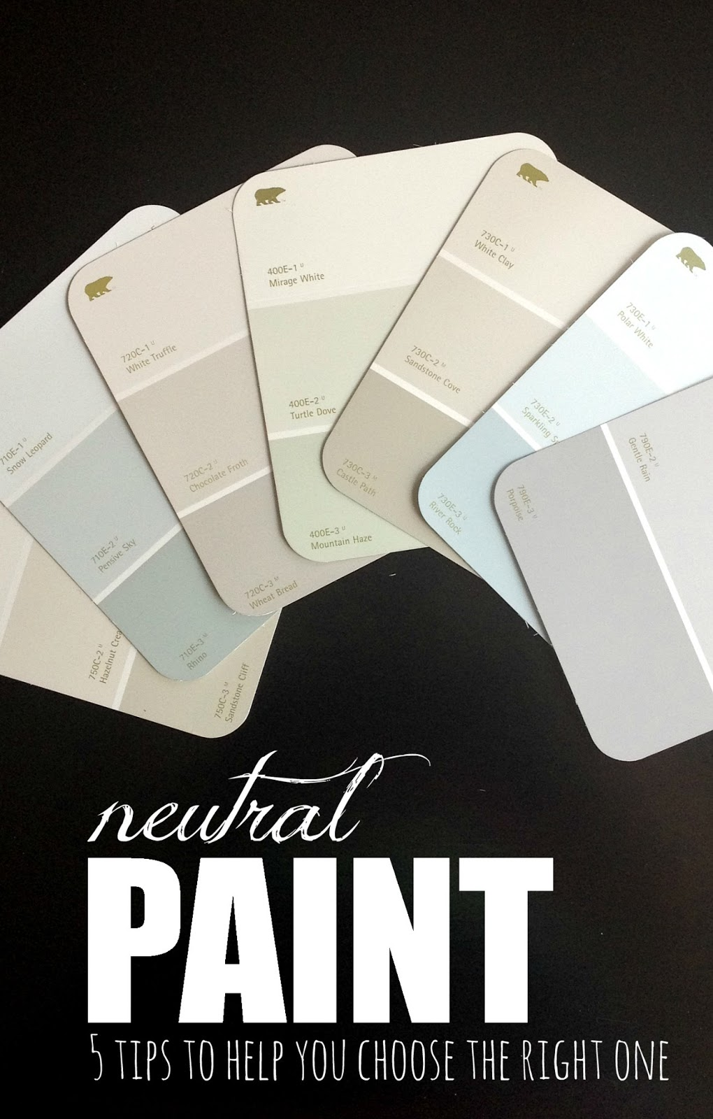Livelovediy how to choose paint colors 5 tips to help for Neutral shades of paint