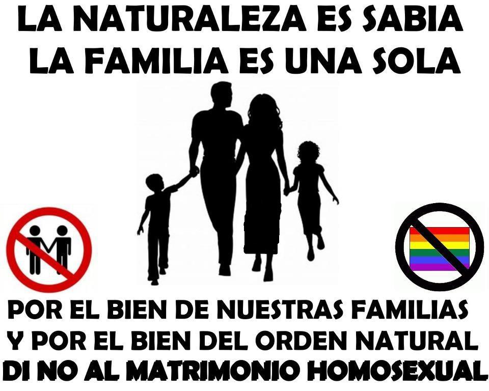 Contras para el matrimonio homosexual