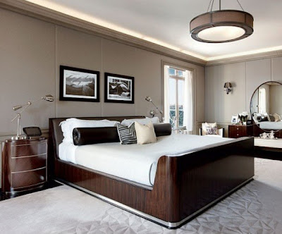 Top most elegant beds and bedrooms in the world brown and white contemporary design bedroom - The most beautiful bedroom in the world ...